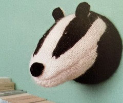 Badger022515 240x201 Faux Taxidermy Knits