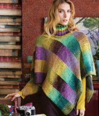 SlantedPoncho032617 205x240 Knit Noro: Accessories 2
