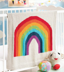 OvertheRainbow100417 213x240 60 More Quick Baby Blankets